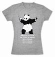 Destroy Racism Panda Shirt Banksy Girl