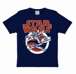 KIDS SHIRT - STAR WARS - X-WINGS BLAU