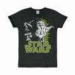 Logoshirt - Star Wars Shirt Yoda Schwarz