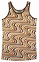 WAVY RETRO TANK SHIRT - BROWN - MEN