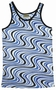 WAVY RETRO TANK SHIRT - BLUE - MEN