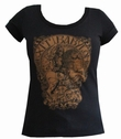 GIRL SHIRT - EXIT BABYLON - SCHWARZ