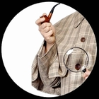Sherlock Holmes Pfeife und Lupe Kit