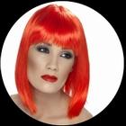 Glam Perücke Neon Rot