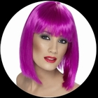 Glam Perücke Neon Violett