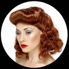 Pin Up Girl Per�cke Rotbraun