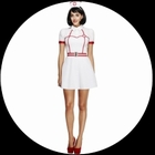 Bed Side Nurse-Nachtschwester Kostüm
