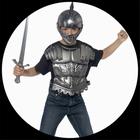 Helm mit Schwert und Brustpanzer - Mittelalter