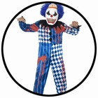 HORROR CLOWN KOST�M - KINDER
