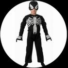 Schwarzes Spiderman Kinder Kostüm - Black Spiderman