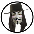 V WIE VENDETTA MASKE - ANONYMOUS - GUY FAWKES