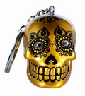 CANDY SKULLS LED KEYCHAIN GOLD - Coolstuff - Candy Skulls - Key Rings