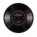 SCHALLPLATTEN MOUSEPAD RECORD MUSIC SCHWARZ