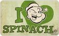 Frühstücksbrettchen - Popeye I love Spinach