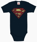BABYBODY - SUPERMAN - BLAU/ GRAU