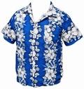 HAWAII HEMD - FLOWERS & ANCHOR - DUNKELBLAU - Shirts - Hawaii Hemden
