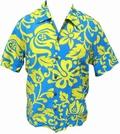 KALAKAUA - ORIGINAL HAWAIIHEMD - ALOHI - BLUE YELLOW - Shirts - Hawaii Hemden