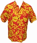 KALAKAUA - ORIGINAL HAWAIIHEMD - ALOHI - RED YELLOW