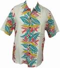 KALAKAUA - ORIGINAL HAWAIIHEMD - HELECONIA PANEL - IVORY - Shirts - Hawaii Hemden