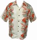 KALAKAUA - ORIGINAL HAWAIIHEMD - KOI PANEL - ELFENBEIN - Shirts - Hawaii Hemden