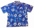 HAWAII HEMD CLASSIC FLOWER - HELLBAU
