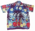 1 x HAWAII HEMD CLASSIC SURF - DUNKELBLAU