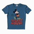 LOGOSHIRT - MICKEY MOUSE SHIRT SCHRIFTZUG- STONE BLUE - Shirts - Logoshirt - Men