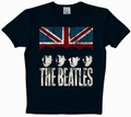 LOGOSHIRT - THE BEATLES SHIRT UNION JACK - BLACK - Shirts - Logoshirt - Men