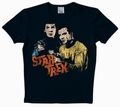 LOGOSHIRT - STAR TREK SHIRT  - SPOCK & KIRK - BLACK - Shirts - Logoshirt - Men
