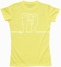 LA LINEA GIRL SHIRT - DRAW ME - GELB - Shirts - Comics - Girls