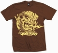 1 x TIKI VOLCANO - SHIRT - BRAUN