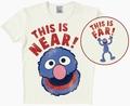 LOGOSHIRT - SESAMSTRASSE - GROVER NEAR/FAR - SHIRT CREME - Shirts - Logoshirt - Men