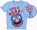 LOGOSHIRT - SESAMSTRASSE - GROVER NEAR/FAR - SHIRT HELLBLAU - Shirts - Logoshirt - Men