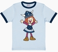 2 x KINDER SHIRT - WICKIE - HELLBLAU