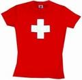 SCHWEIZER KREUZ GIRLIE SHIRT - Shirts