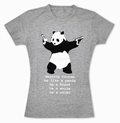 DESTROY RACISM PANDA SHIRT BANKSY GIRL - Shirts
