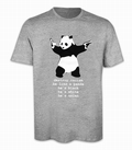 DESTROY RACISM PANDA SHIRT BANKSY MEN - Shirts