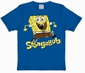 KIDS SHIRT - SPONGEBOB JUMPING - BLAU