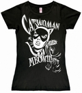 LOGOSHIRT - CATWOMAN - GIRL SHIRT SCHWARZ