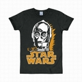 LOGOSHIRT - STAR WARS SHIRT C-3PO SCHWARZ - Shirts - Logoshirt - Men