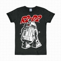 LOGOSHIRT - STAR WARS SHIRT R2/D2 SCHWARZ - Shirts - Logoshirt - Men