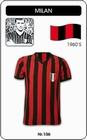 AC MAILAND MILAN RETRO TRIKOT - Shirts - Trikots - 60er Jahre