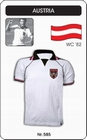 ÖSTERREICH RETRO TRIKOT WEISS KURZARM 1982 - Shirts - Trikots - 80er Jahre