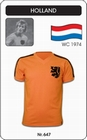 3 x HOLLAND - NIEDERLANDE - NETHERLANDS - WORLD CUP 1974 - TRIKOT