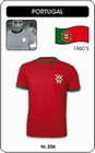 PORTUGAL RETRO TRIKOT - Shirts - Trikots - 60er Jahre
