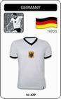 DEUTSCHLAND RETRO TRIKOT WEISS - Shirts - Trikots - 70er Jahre