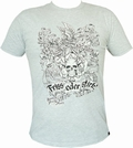 4 x SHIRT - FRISS ODER STIRB - HELLGRAU