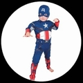 CAPTAIN AMERICA KINDER KOST�M
