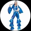 DISCO LADY DANCING DREAM BLAU 70ER JAHRE - Kostueme - 70er Jahre
