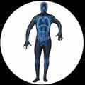 KÖRPERANZUG - BODYSUIT - RÖNTGENSTRAHLEN - Kostueme - Körperanzüge